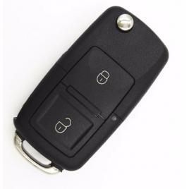 Carcasa cheie VW/Skoda, tip briceag, 2 butoane, LED la mijloc