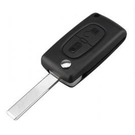 Carcasa cheie tip briceag pentru Peugeot/Citroen, 2 butoane