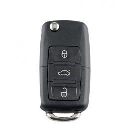 Cheie completa tip briceag, cu chip si telecomanda pentru VW, Skoda, 3 butoane, 433 MHZ 1J0959753AH ID48 Chip