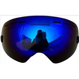 Ochelari ski/snowboard, lentila sferica dubla, demontabila, polarizata, anti-ceata, oglinda A+++