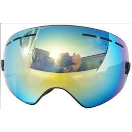 Ochelari ski/snowboard, lentila sferica dubla, demontabila, polarizata, ventilate anti-ceata, oglinda A+++