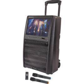 Boxa portabila 400w ibiza, karaoke cu ecran 15 inch, difuzor 30 cm