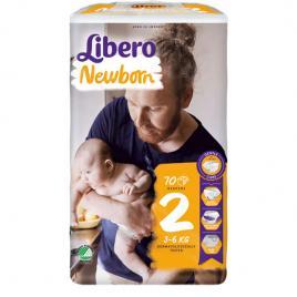 Scutece Libero Baby Soft 2 Mini, 3-6 kg, 70 buc