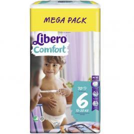 Scutece Libero Comfort 6 Megapack 13-20 Kg, 70 buc