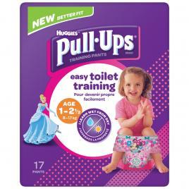 Scutece chilotel Huggies Pull-Ups, Girl, 8-17 kg, 17 buc