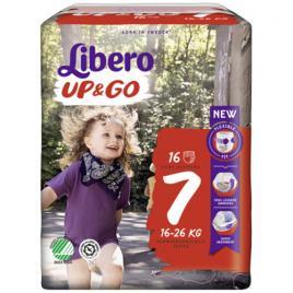 Scutece chilotel Libero Up&Go Unisex 7 XL Plus, 16-26 kg, 16 buc