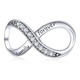 Talisman din argint Infinite Family Forever