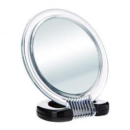 Oglinda cu suport si doua fete, Beter, diametru 12 cm, transparent - negru
