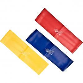 Set 3 benzi elastice antrenament, X-Band, rezistente diferite, 50x5 cm