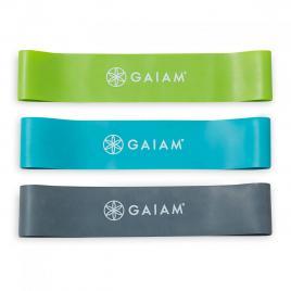 Set 3 benzi elastice mini, Gaiam, rezistente slaba-medie-ridicata