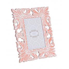 Rama foto de masa lemn rosu vintage baroque 19 cm x 23 h