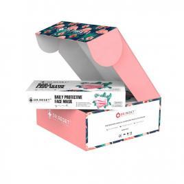 Set 80 bucati Masti faciale protectie, de unica folosinta,nesterile Roz,Slim Box