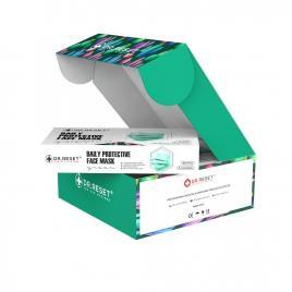 Set 80 bucati Masti faciale protectie, de unica folosinta,nesterile Verzi,Slim Box