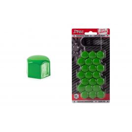 Set capacele ornament prezoane, 20+1 gratis, 17 mm, culoare verde