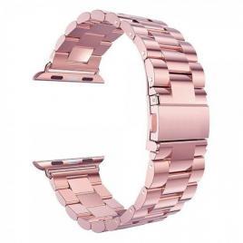 Curea compatibila apple watch, metalica, 42/44mm roz