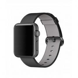 Curea compatibila apple watch, 38/40mm din nylon, negru