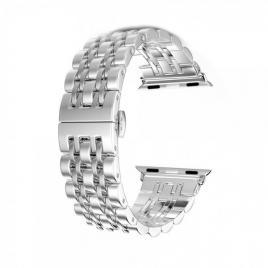 Curea compatibila apple watch, 42/44mm din otel inoxidabil argintiu