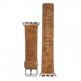 Curea compatibila apple watch, 42/44mm, din piele naturala, vintage maro