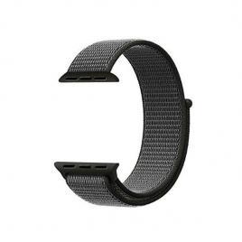 Curea compatibila apple watch, 42/44mm, nylon verde/gri