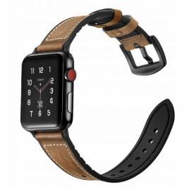 Curea compatibila apple watch, 42/44mm din piele, maro