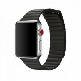 Curea compatibila apple watch, 42/44mm din piele, negru