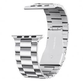 Curea compatibila apple watch, metalica, 42/44mm argintiu