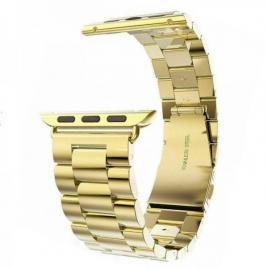 Curea compatibila apple watch, metalica, 42/44mm auriu