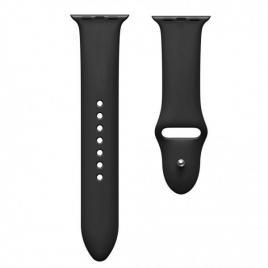 Curea compatibila apple watch 1/2/3/4, silicon, 38/40mm negru