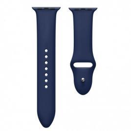 Curea compatibila apple watch 1/2/3/4, silicon, 42/44 mm bluemarin
