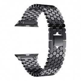 Curea de dama compatibila apple watch, otel inoxidabil negru 42/44 mm