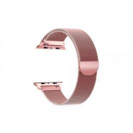 Curea magnetica compatibila apple watch, metalica, reglabila 38/40 mm rose gold