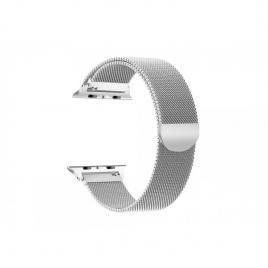 Curea magnetica compatibila apple watch, metalica, reglabila argintiu 42/44 mm