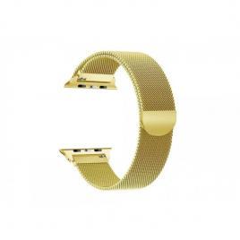 Curea magnetica compatibila apple watch, metalica, reglabila auriu 42/44 mm
