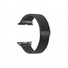 Curea magnetica compatibila apple watch, metalica, reglabila negru 42/44 mm