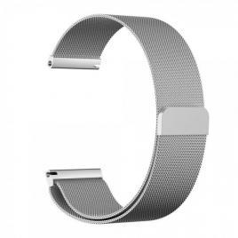 Curea metalica compatibila cu samsung gear s3, magnetica argintiu