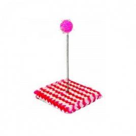 Jucarie interactiva pentru pisici, 15x15, gonga roz