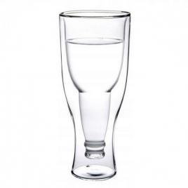 Pahar model sticla inversata, 500 ml, transparent