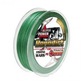 Fir textil impletit in 4 camasuit Benedict, verde, profil rotund, rezistent la abraziune, 0.16mm, 300m