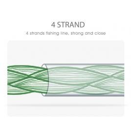 Fir textil impletit in 8 camasuit Benedict, verde, profil rotund, rezistent la abraziune,0.20mm, 300m