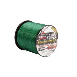 Fir textil impletit in 8 camasuit Benedict, verde, profil rotund, rezistent la abraziune,0.80mm, 100m