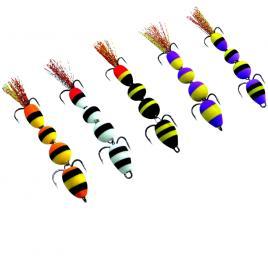 Set 5 naluci Mandula pescuit la stiuca salau biban, 10cm 7g, substrat, jig articulat, Model 5