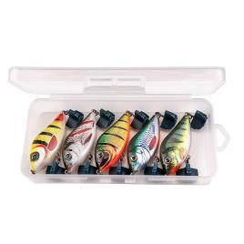 Set 5 voblere Jerkbait slider 8cm 24g de adancime pentru stiuca, diferite culori