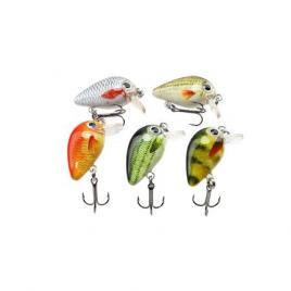Set 5 voblere clean, biban, avat, Fishingbox, plastic, abs, multicolor, 3 cm