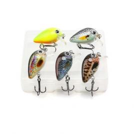 Set 5 voblere clean primavara , biban, avat, Fishingbox, setul 2, plastic, multicolor, 3 cm