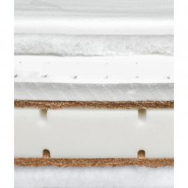 Saltea sensillo latex-cocos-spuma-cocos cu aloe vera 120x60x12 cm