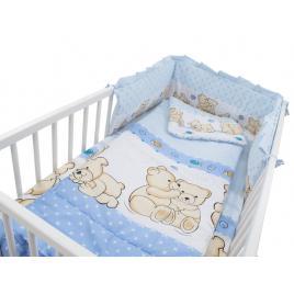Lenjerie mykids teddy friends albastru 4 piese m2 140x70