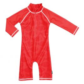 Costum de baie fish red marime 74-80 protectie uv swimpy