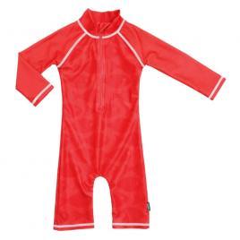 Costum de baie fish red marime 86-92 protectie uv swimpy