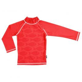 Tricou de baie fish red marime 110-116 protectie uv swimpy
