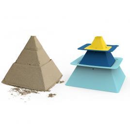 Forme de nisip galben-albastru pira